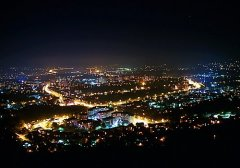 Panorama Banja Luka at night